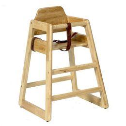 Stapelbare Kinder Hochstuhl Holz - in Natur und Walnuss – Bild 1