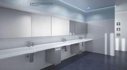 RVS dispenser WP176 voor 500 papieren handdoekjes achter spiegel van Wagner-EWAR – Bild 3