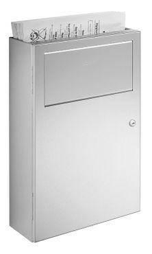 Wagner-EWAR Hygiene-Abfallbehälter 5l WP137 Edelstahl für Aufputzmontage – Bild 1
