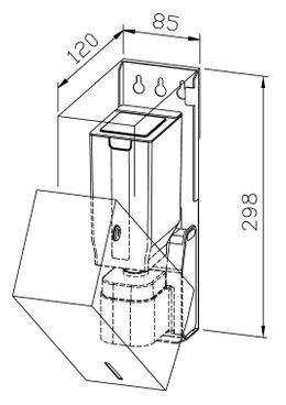 Wagner-EWAR Sensor-Seifenspender 850ml WP102e-1 Edelstahl für Aufputzmontage – Bild 2