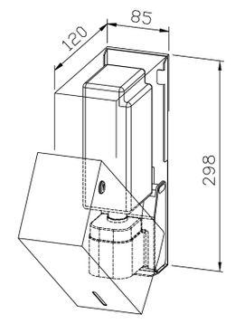 Wagner-EWAR Sensor-Seifenspender 950ml WP102e Edelstahl für Aufputzmontage – Bild 2