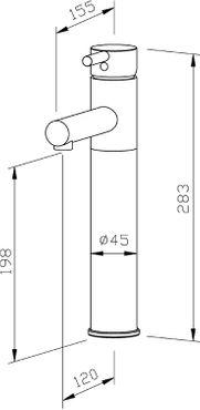 Wagner-EWAR Waschtischarmatur kurzer Hebel HD WA 110 Edelstahl – Bild 2