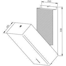 Wagner-EWAR Handtuchspender 750 Bl. PP111 Edelstahl für Aufputzmontage – Bild 2