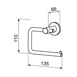 Wagner-EWAR Toilettenpapierhalter AC250 Edelstahl – Bild 2
