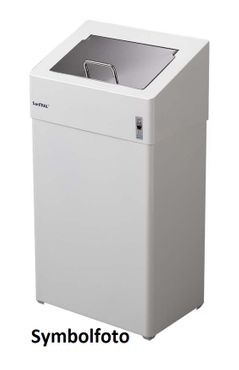 Dan Dryer Classic Design sanitary bin 18L made of white-painted stainless steel