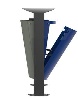Rossignol Arkea Abfallbehälter 2 x 60L aus Stahl mit Standfuss in 3 Farben erhältlich – Bild 4