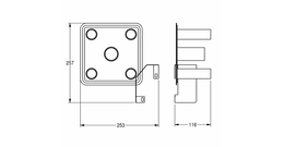 Franke EXOS. Conversion kit for retrofitting jumbo toilet roll holder to incorporate 4 toilet rolls ZEXOS670K – Bild 3