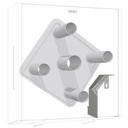 Franke EXOS. Conversion kit for retrofitting jumbo toilet roll holder to incorporate 4 toilet rolls ZEXOS670K – Bild 1