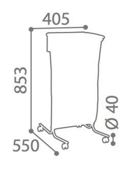 Rossignol Tubag tubular bag holder 110L made of steel available in 4 colours – Bild 5