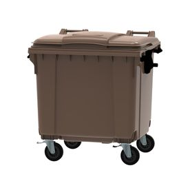 Container 1,100L Flat Lid