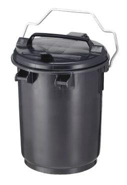 Abfallbehälter 35 Liter aus Kunststoff Dunkel Grau