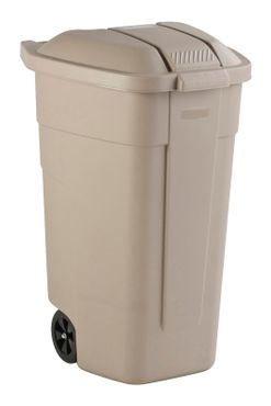 Mobile container 110 litres, Rubbermaid beige – Bild 2