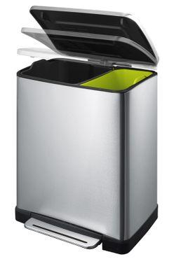 E-Cube Foot Pedal Recycling Bin 10+9 L, EKO – Bild 2