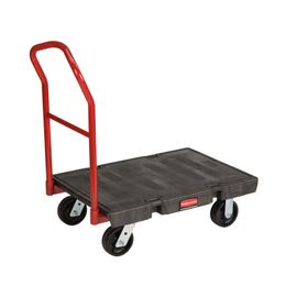 Heavy duty platform truck, Rubbermaid black, red – Bild 1