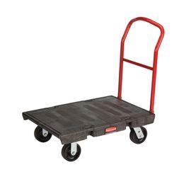 Plattformwagen für schwere Lasten, Rubbermaid Schwarz, Rot – Bild 2