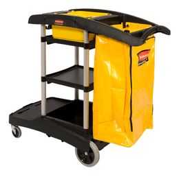 High capacity utility cart, Rubbermaid black