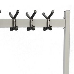 Double sided mobile coat rack Double silver, black – Bild 2