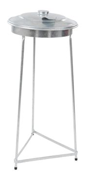 Galvanized waste bag stand 110 litres galvanized – Bild 1