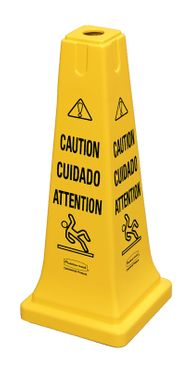 Warning cone 65,1 cm - symbol, Rubbermaid yellow