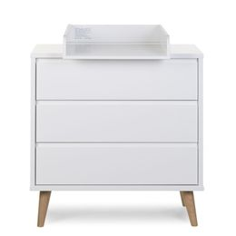 Childhome Retro Rio White Chest 3 Drawers + Changing Unit