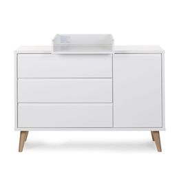 Childhome Retro Rio White Kommode Extra 3 Laden+1Tur+Aufsatz