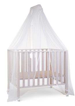 Childhome Canopy Holder Wood White + Mosquito Net