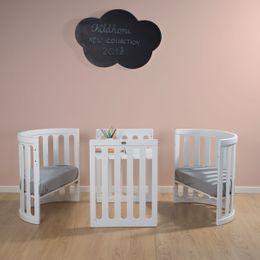 Childhome Oval Cot White + Mattress 4 In 1 75X130 – Bild 5