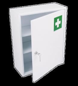 Medicijnkast gemaakt van metaal met 1 deur in wit voor wandmontage – Bild 1
