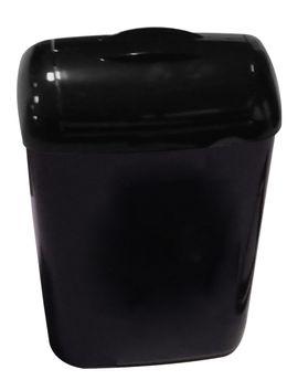 PlastiQline 2020 Hygiene-Abfallbehälter 8 Liter Kunststoff schwarz PQXH8 – Bild 1