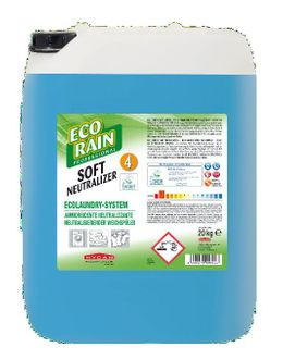 Hygan Ecorain Ecolaundry Soft Neutralizer4 in 20 kg canister softener for cotton, synthetic and blended fibers