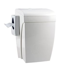 Sanitary bin 8 litre + hygiene bag dispenser 5667 from PlastiQline