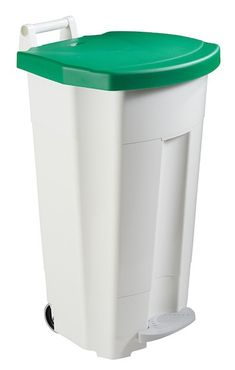 Mobily mobile waste bin 120 liters with a pedal and a transport handle Rossignol – Bild 2