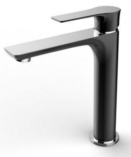 Basin tap Casma XL by Wiesbaden in black, white or-chromelook  – Bild 3