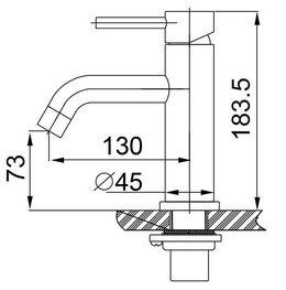 Basin tap Grant by Wiesbaden in stainless steel  – Bild 2