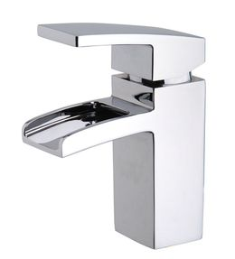 Waterfall basin tap Rombo by Wiesbaden in chrome or stainless steel look – Bild 1