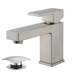 Basin tap Rombo by Wiesbaden in chrome or stainless steel look with waste – Bild 2