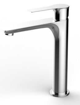 Basin tap Tarma XL by Wiesbaden in black, white or-chromelook  – Bild 1