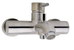 Wall mounted bath tap Cadans by Wiesbaden in chrome or stainless steel look  – Bild 2