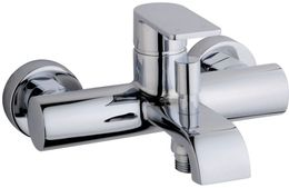 Bath and shower tap Lima with lever by Wiesbaden in chromelook – Bild 1