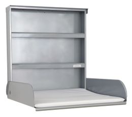 Steel Changing table with shelving system and Changing mat - byBo Design Silver