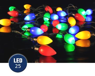 Party Lichterkette mit 25 bunten LED Lampen
