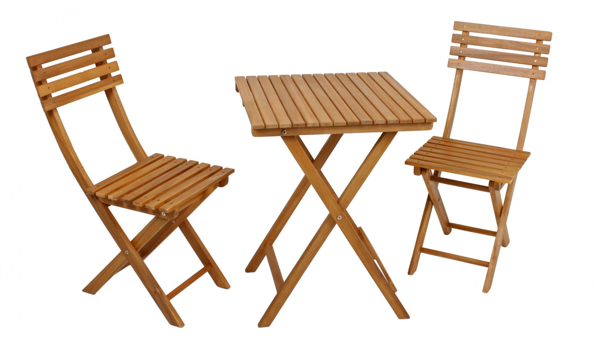 balkonset aus akazie mit zwei st hlen und einem tisch gartenm bel sets sitzgruppen. Black Bedroom Furniture Sets. Home Design Ideas