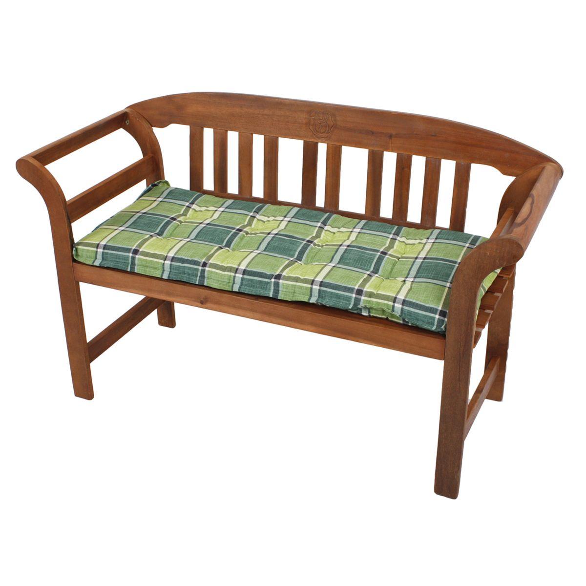 bankauflage gr n kariert 110 cm l nge gartenm bel. Black Bedroom Furniture Sets. Home Design Ideas