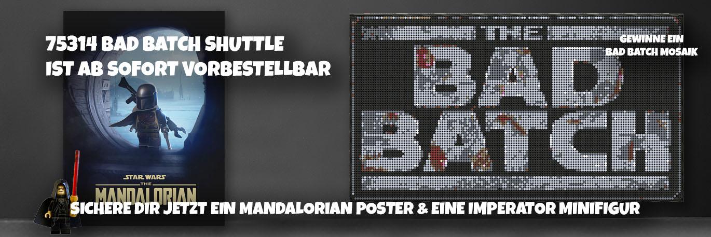 LEGO 75314 Bad Batch Shuttle mit Mandalorian Poster in DIN A2 & Imperator Minifigur