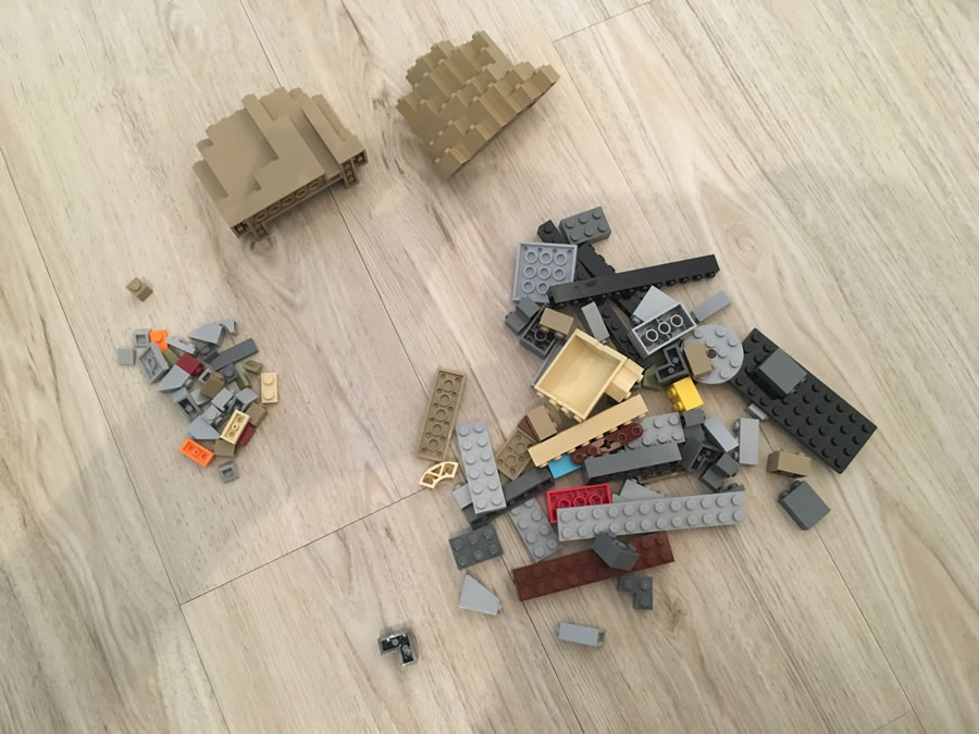 LEGO Hogwarts Schloss Bauschritt