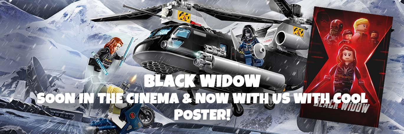 LEGO® 76162 Black Widow's Helicopter Chase