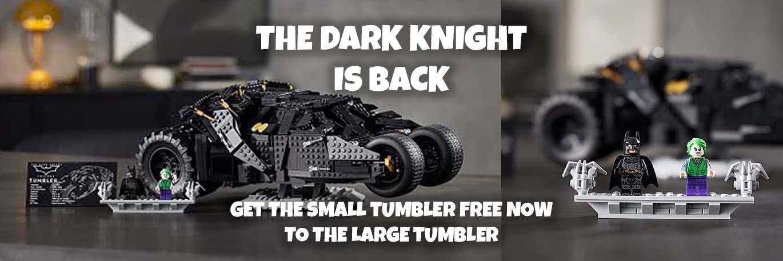 LEGO 76240 The Dark Knight Tumbler (Batmobile) + free 76239 Tumbler