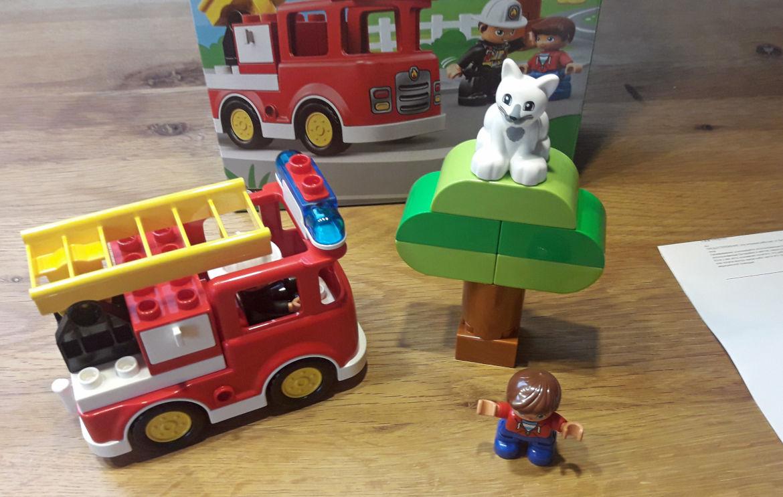 Feuerwehrwagen mit Katze