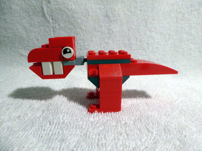 Erster Bauspaß roter Dinosaurier