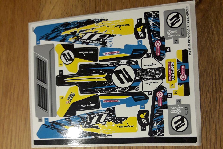 Stunt Racer Stickerbogen
